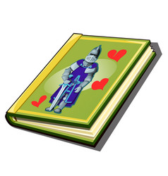 Book with cover with a picture a knight vector