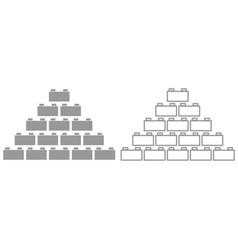 building block it is black icon vector image
