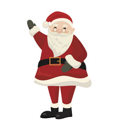 cartoon santa claus with a piglet christmas vector image