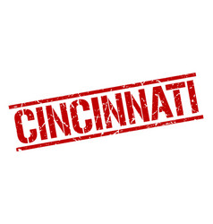 Cincinnati red square stamp vector