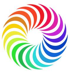 Circular radial motif mandala design element with vector