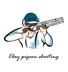 clay pigeon shooting vector image