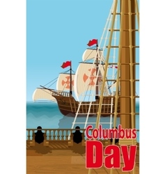 Columbus Day Card vector