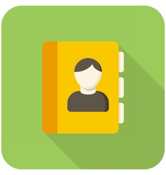 Contacts icon vector