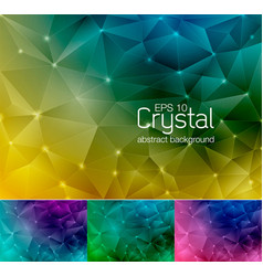crystal abstract background 5 vector image