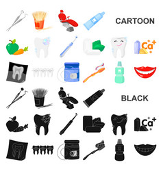 dental care cartoon icons in set collection for vector image