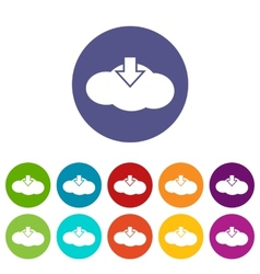 Download cloud flat icon vector image
