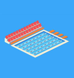 Empty indoor swimming pool isolated icon vector
