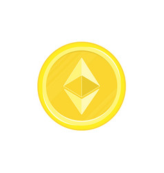 ethereum gold coin icons vector image
