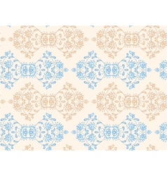 Ethnic seamless floral pattern vector image