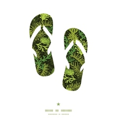 evergreen christmas tree flip flops silhouettes vector image