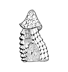 Fairy cartoon doodle style ornamental monochrome vector image