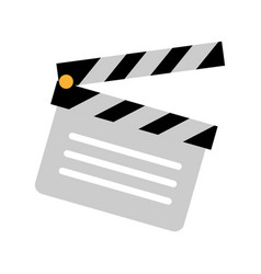 film clapperboard icon vector image