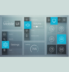 flat user interface design concept vector image
