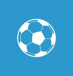 football ball icon white on the blue background vector image