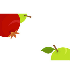 Fruits background with apple and pomegranate vector