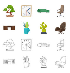 furniture and work sign vector image