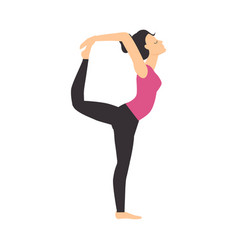 Girl doing yoga stretching exercise slim sporty vector