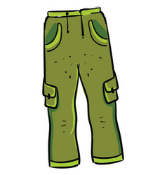 green man pants on white background vector image