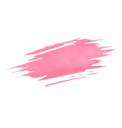 Hand painted pink watercolor brush texture vector