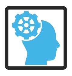 Head Gear Framed Icon vector
