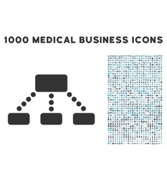 Hierarchy Icon with 1000 Medical Business vector image