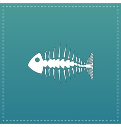 icon of fishbone vector image