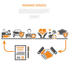 Insurance services process concept vector