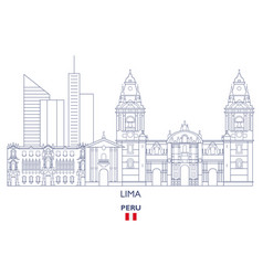 Lima city skyline vector