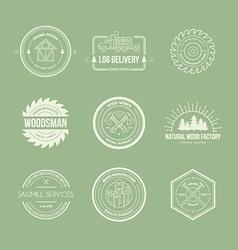 Lumberjack Logos vector image