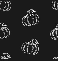 modern chalk contour vegetable seamless pattern vector image