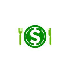 money food logo icon design vector image