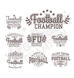 monochrome football badges vector image vector image