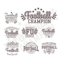 Monochrome football badges vector