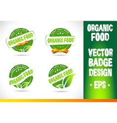 Organic food Badge Logo vector image