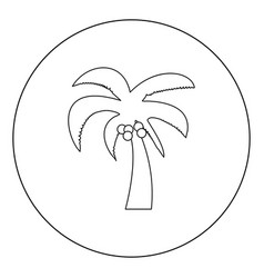 palm icon black color in circle or round vector image