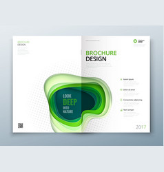 Paper cut brochure design paper carve abstract vector