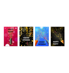 party popper poster set vector image