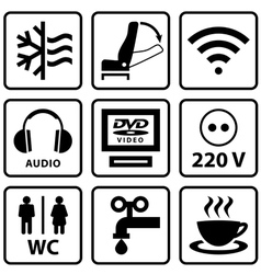 Pictograms for touristic bus vector