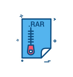 rar application download file files format icon vector image