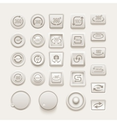 rotate buttons set vector image
