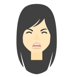 Screaming aggressive woman vector image