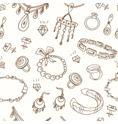 Seamless pattern with accessories sketch icon set vector image