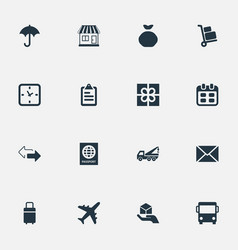 Set of simple delivery icons vector