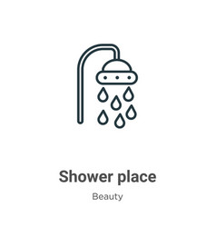 Shower place outline icon thin line black vector