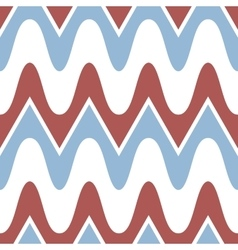 Simple blue red scalloped seamless pattern vector