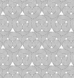 Slim gray hatched hearts overlapping vector