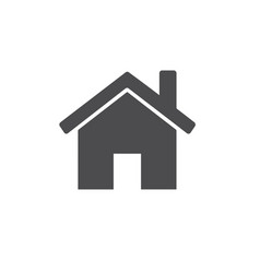 small house icon for web business finance and vector image