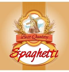 Spaghetti pack label vector