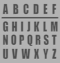 Stone carved alphabet font vector